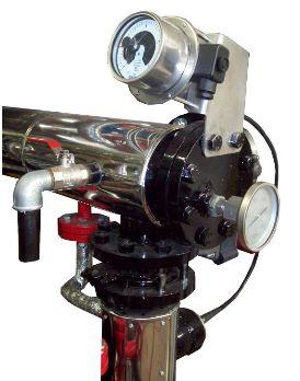 Регулятор давления с электрическим защитным контактом на входе битума